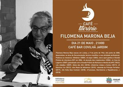 CAFÉ LITERÁRIO COM FILOMENA MARONA BEJA