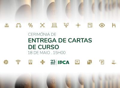 Barcelos | Entrega de Cartas de Curso aos Diplomados do IPCA decorre este sábado