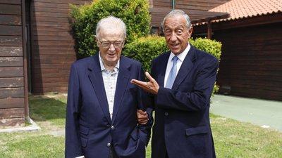 Marcelo saúda Jorge Sampaio por prémio humanitário