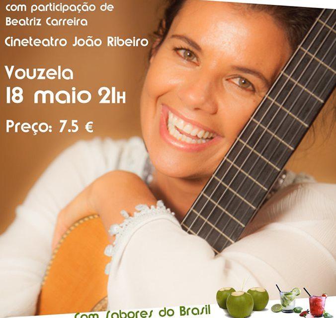 Concerto realiza-se no dia 18 de maio, Valéria Carvalho canta Rui Veloso no cineteatro de Vouzela