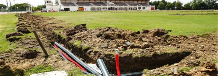Beja | Novo sistema de rega do Relvado Natural do Complexo Desportivo Fernando Mamede
