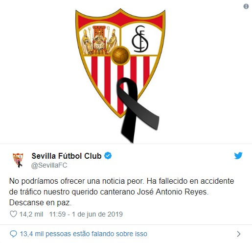 Morreu o antigo jogador do Benfica José Antonio Reyes