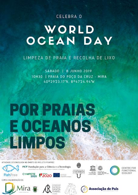 Coimbra | Investigadores da FCTUC celebram o Dia Mundial dos Oceanos com ação de limpeza de praia e recolha de lixo| 8 de junho| 10h30m| Mira