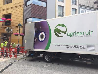 Câmara de Águeda repara a conduta junto à Ponte na zona baixa da cidade