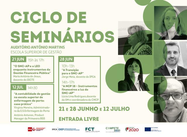 Barcelos | Ciclo de seminários em contabilidade e gestão financeira pública: de 21 de junho a 12 de julho