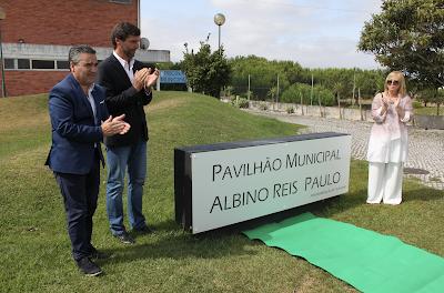 Vieira de Leiria   Nome de Albino Reis Paulo perpetuado em Pavilhão Municipal