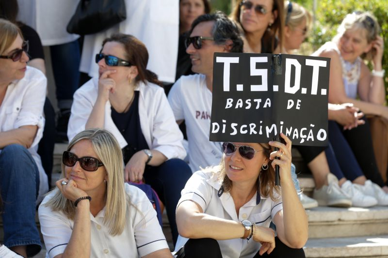 Técnicos Superiores de Diagnóstico em greve e protesto na Assembleia da República