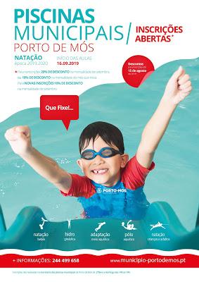Porto de Mós | Piscinas Municipais – Inscrições Abertas com Desconto!