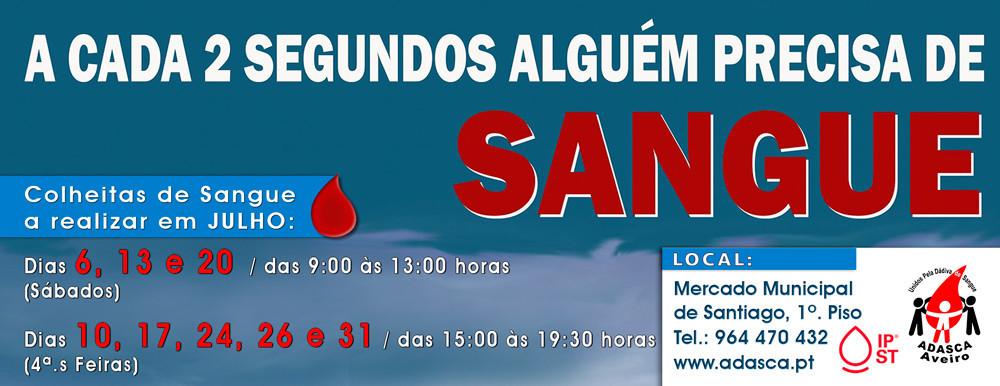 Aveiro | Sessão de Colheitas de Sangue no Posto Fixo da ADASCA