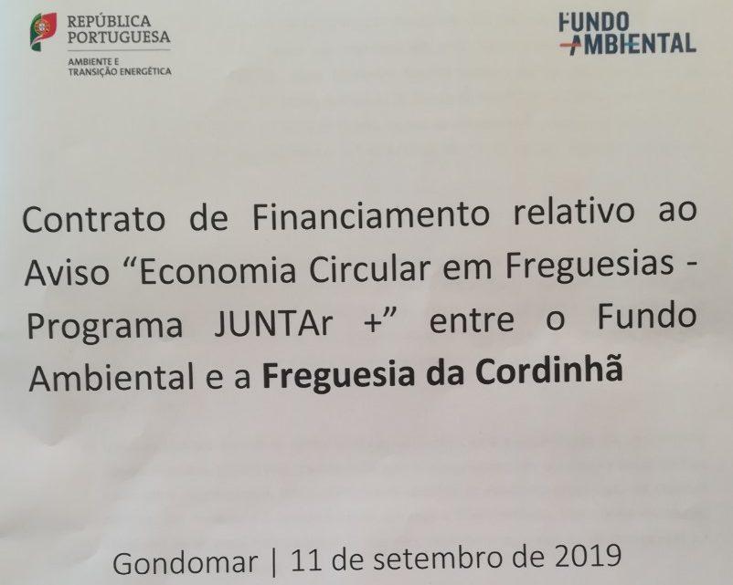 Freguesia de Cordinhã Assina Contrato de 25.000€ com Ministério Ambiente