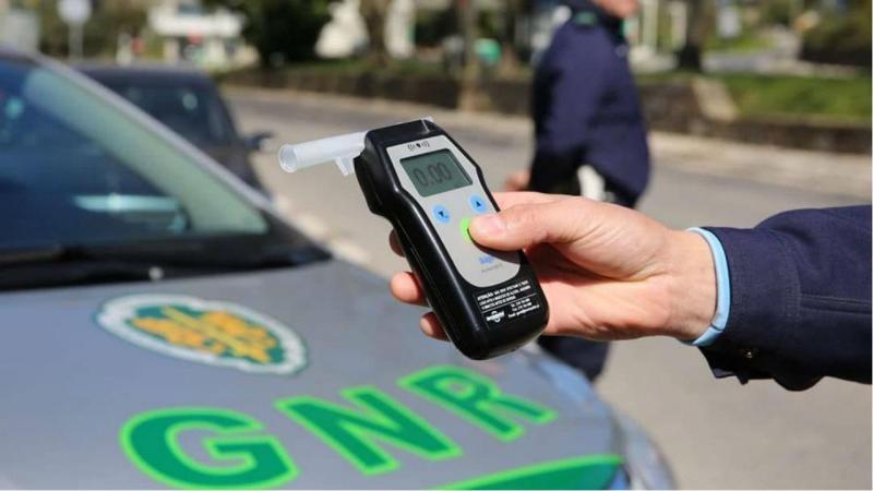 """Mais de 1.800 detidos por condução com álcool no âmbito da """"Operação Hermes"""" da GNR"""