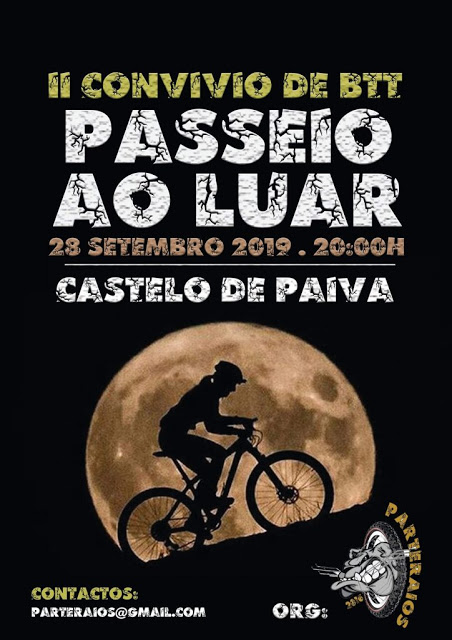 Desporto | Na noite do próximo Sábado, CASTELO DE PAIVA VAI ACOLHER II CONVÍVIO DE BTT