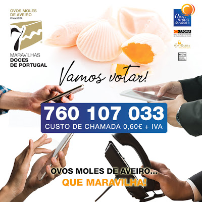 OS OVOS MOLES DE AVEIRO são finalistas às 7 Maravilhas Doces de Portugal – Promover a nossa região – 7 Setembro de 2019