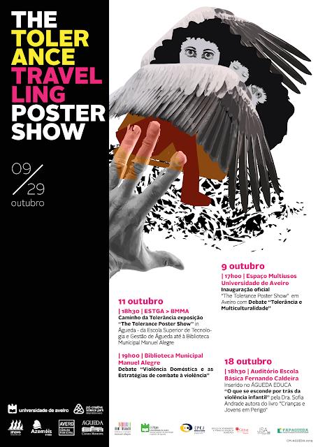 Cultura | A Câmara Municipal de Águeda promove, de 9 a 29 de outubro, um evento sobre a tolerância, com o sub-tema da violência doméstica.