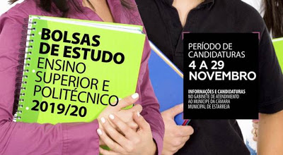 Estarreja   Bolsas de Estudo do Ensino Superior e Politécnico 2019/ 2020 – Candidaturas durante este mês de novembro