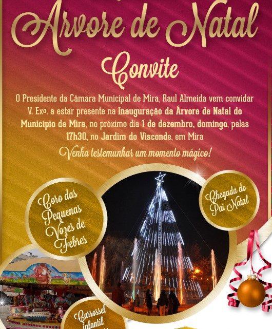 Inauguração da Árvore de Natal de Mira no próximo Domingo