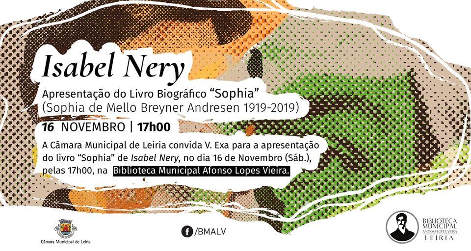 "Isabel Nery apresenta ""Sophia"" no Leiria Convida"