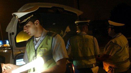 GNR detém 45 pessoas por condução sob efeito do álcool