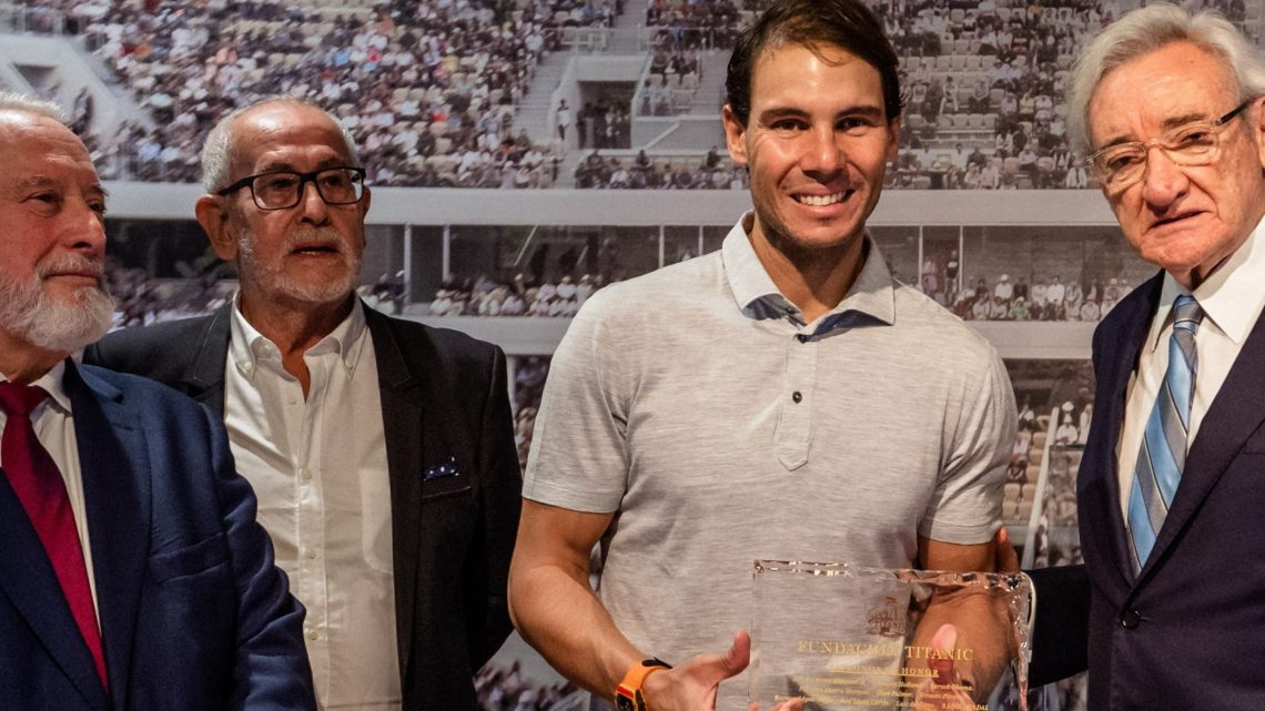 RAFA NADAL AND LUIS DEL OLMO RECEIVE THEIR APPOINTMENTS AS NEW HONOR PATTERNS OF THE TITANIC FOUNDATION