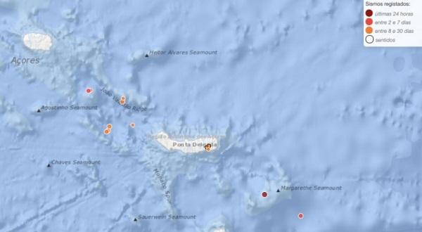Sismo nos Açores de magnitude 4,5 sentido na ilha de São Miguel