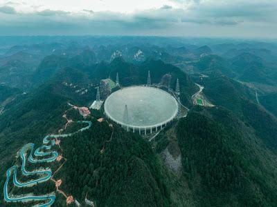 Tecnologia | O telescópio de rádio gigantesco FAST finalmente foi inaugurado na China