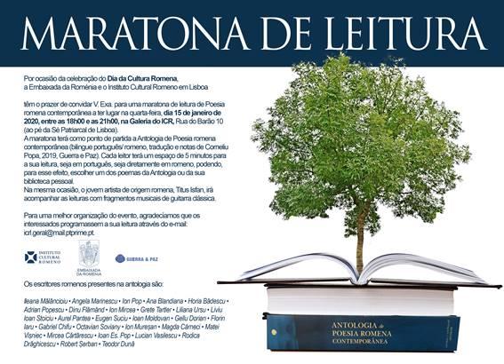 Dia da Cultura Romena celebrado em Lisboa com maratona de leitura de poesia