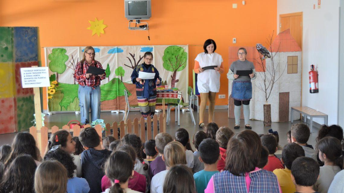 Biblioteca Municipal apresenta dramatização no Centro Escolar de Cadima