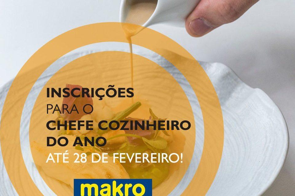 Abertas as inscrições para a 31ª edição do concurso Chefe Cozinheiro do Ano 2020 com o apoio da Makro Portugal