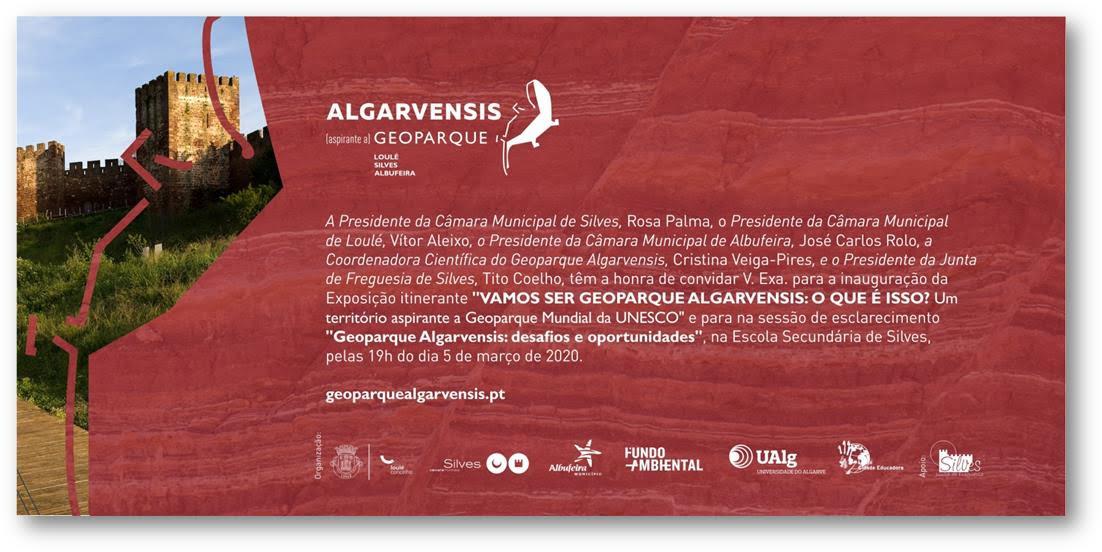 """Convite » Inauguração da Exposição Itinerante """"Vamos ser Geoparque ALGARVENSIS: o que é isso?"""""""