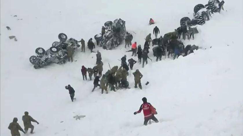 Turquia. Dupla avalanche causa, pelo menos, 33 mortos
