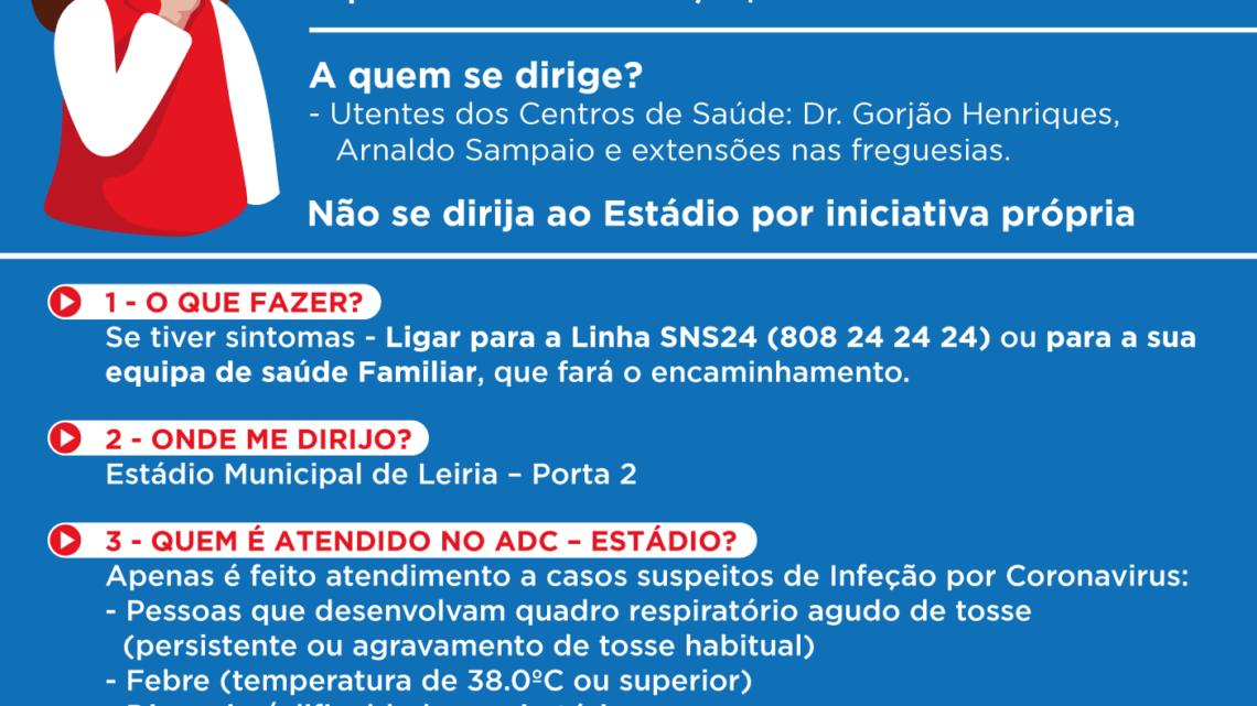 Informação relativa à abertura da Área Dedicada Covid-19 no Estádio Municipal de Leiria