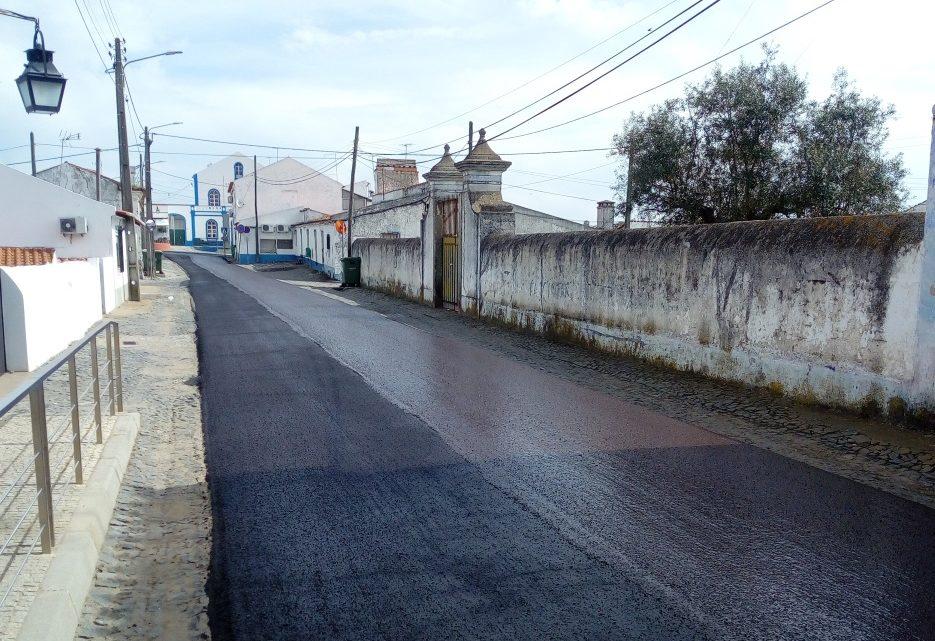 Nossa Senhora de Machede – Câmara Municipal de Évora procede a obras de pavimentação