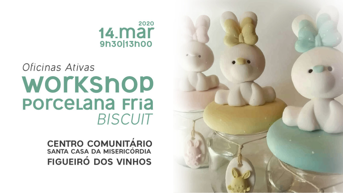 """CLDS 4G – Figueiró dos Vinhos promove Workshop """"Porcelana Fria – Biscuit"""""""