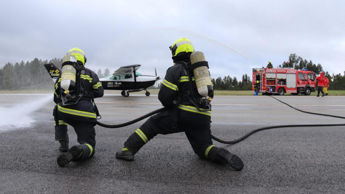 Proença-a-Nova | Simulacro no Aeródromo Municipal testa capacidade de reação a acidente