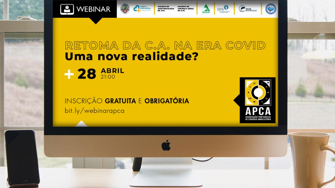 APCA promove sessão online: Webinar define estratégias para a retoma da atividade cirúrgica durante a pandemia COVID-19