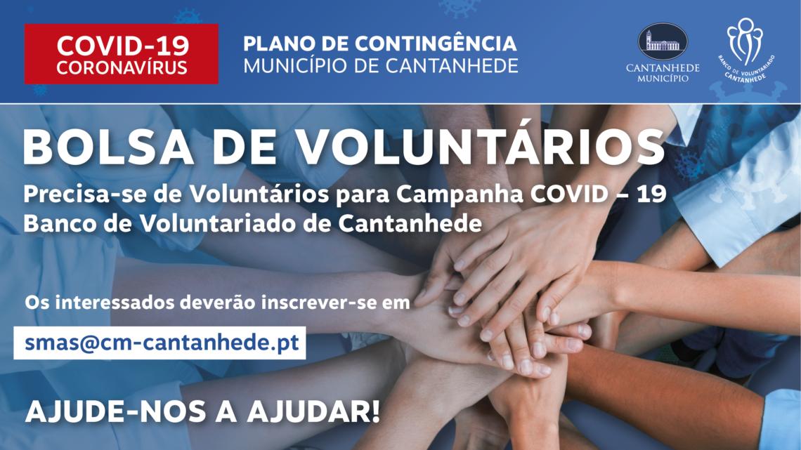 Município de Cantanhede apela à inscrição na BOLSA DE VOLUNTÁRIOS