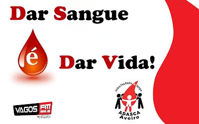 Colheita de sangue dia 22 de Abril no Posto Fixo da ADASCA entre as 15 e as 19:30 horas