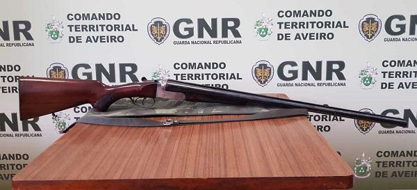 Armas apreendidas em Ovar por violência doméstica