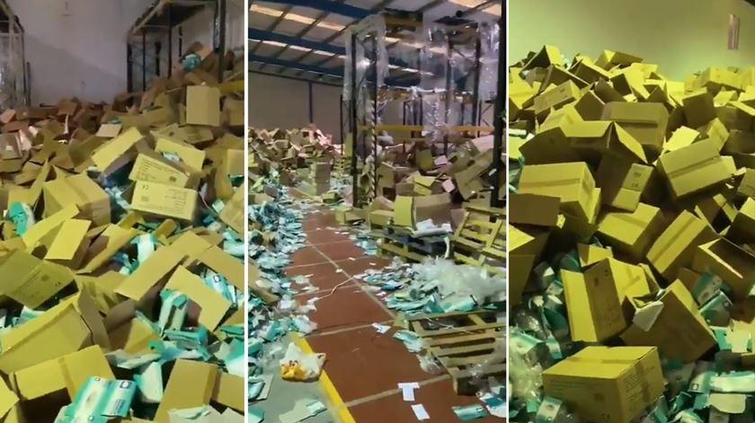 Detido em Espanha suspeito de roubar milhões de máscaras que vinham para Portugal