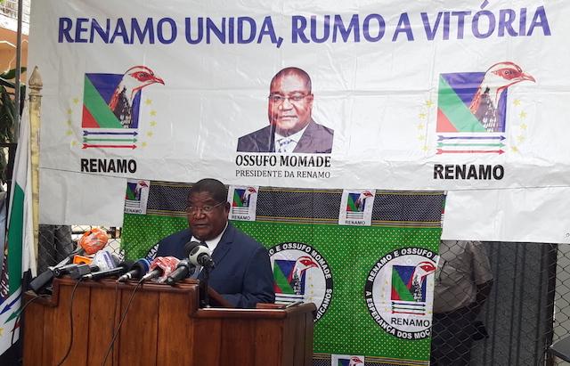 """Líder da Renamo """"recomenda a prorrogação do Estado de Emergência"""" mas permitindo actividade do sector informal em Moçambique"""