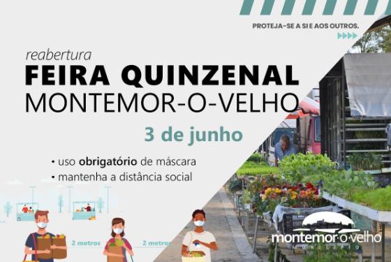 Feira quinzenal de Montemor-o-Velho reabre a 3 de junho