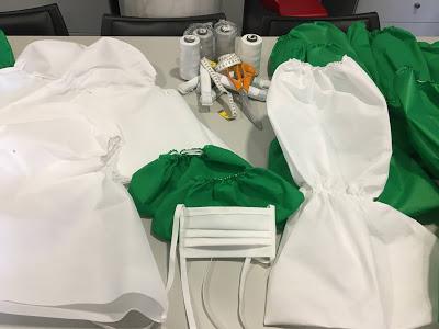 COVID-19: Voluntárias LPCC costuram máscaras, cogulas, botas e cobre botas para ajudar profissionais de saúde