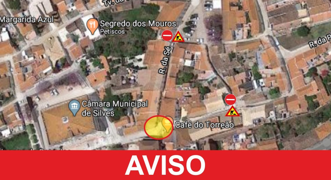 Intervenção no centro histórico de Silves provoca corte de circulação automóvel na rua da cadeia, rua da sé e rua da porta de loulé até dia 3 de julho