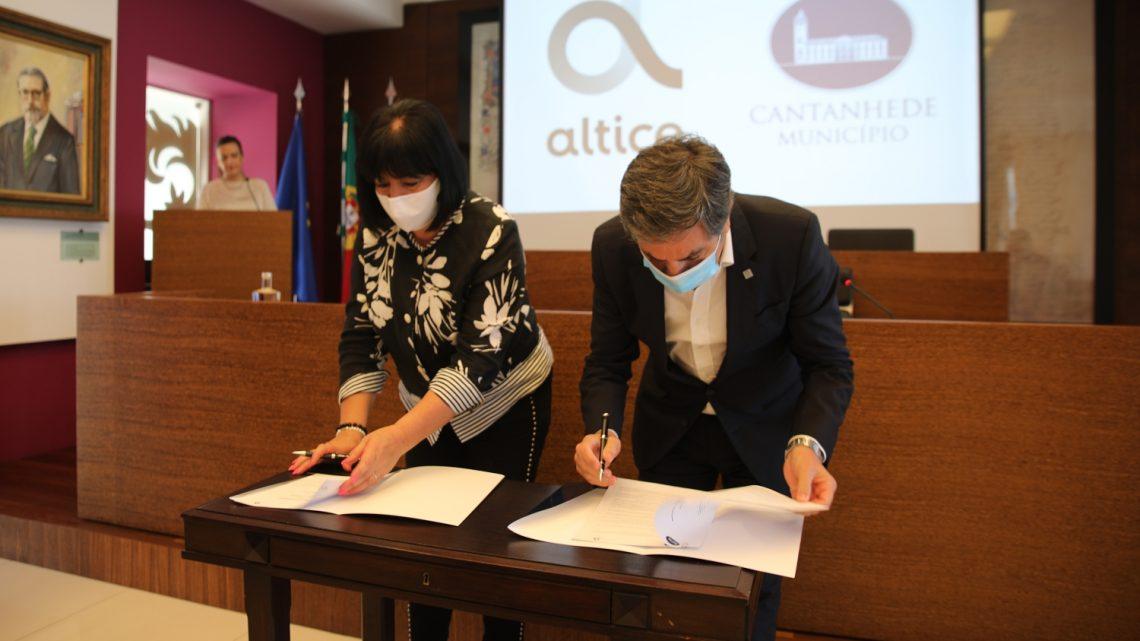 Prevista 95% de cobertura de rede de fibra ótica em 2021 – Município de Cantanhede e Altice Portugal assinam protocolo de expansão de fibra ótica