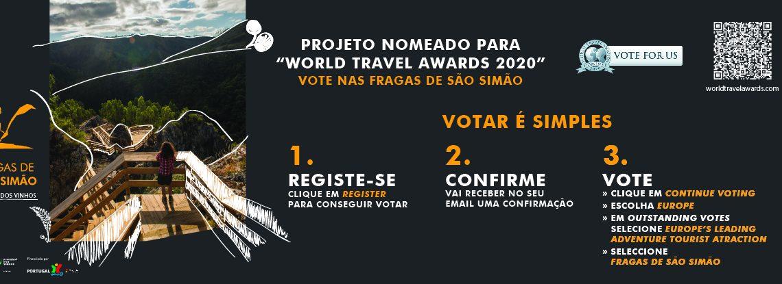 """Projeto """"Fragas de São Simão"""" nomeado para o World Travel Awards – VOTAR É SIMPLES, VOTE ATÉ 17 DE AGOSTO"""