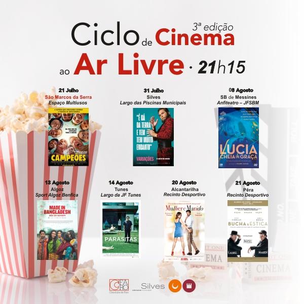 CICLO DE CINEMA AO AR LIVRE VOLTA AO CONCELHO DE SILVES