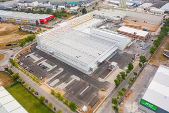 Construtora nacional com know-how reconhecido no segmento da construção industrial responsável por obra de expansão desenvolvida