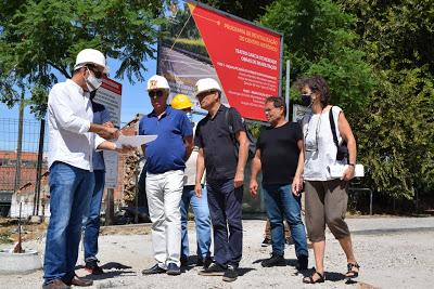 Eleitos do Município de Évora visitaram obras em curso no Teatro Garcia de Resende
