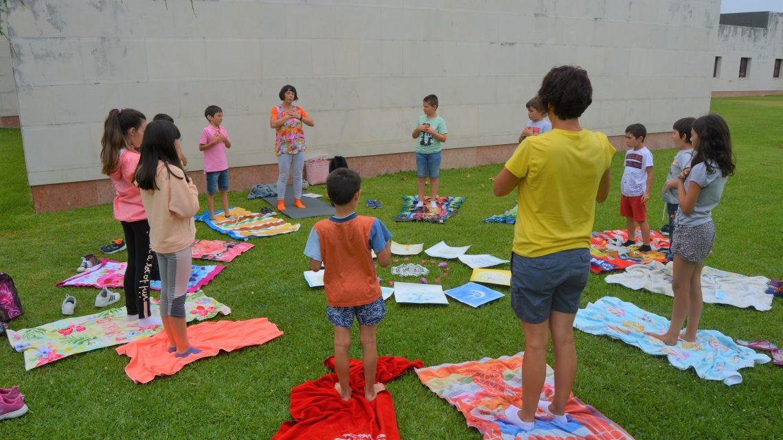 No passado dia 30 de julho a Biblioteca Municipal de Cantanhede dinamiza sessão de Ioga para Crianças