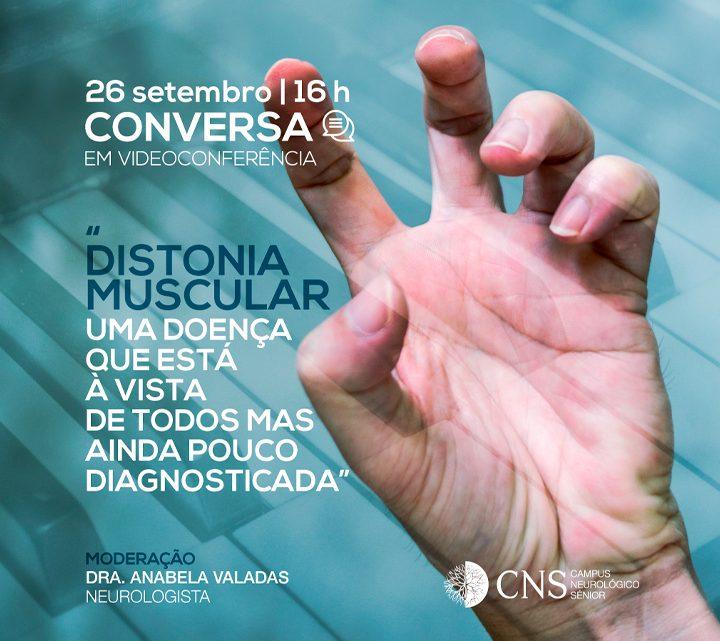 Distonia Muscular   Videoconferência   26 setembro